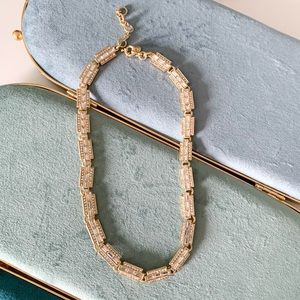 J. Crew Special Pave Link Necklace